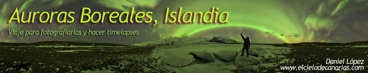 logo auroras desde islandia