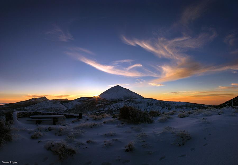 29-01-07 panoramica teide nevado puesta sol 900